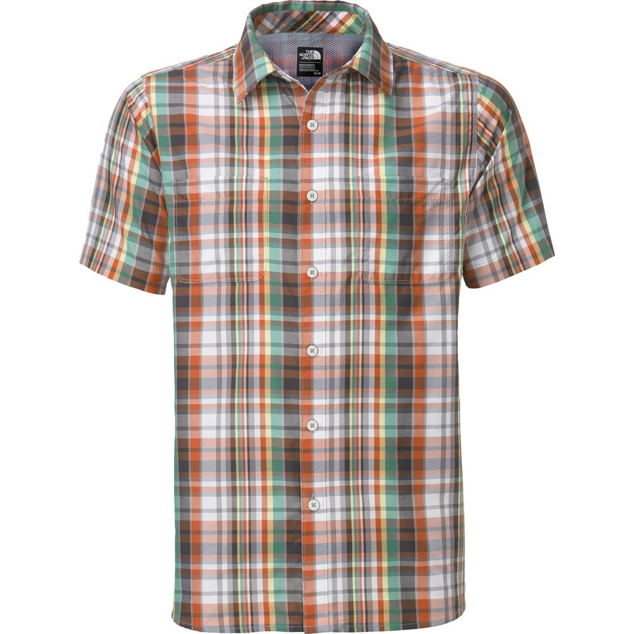 The north face solar plaid shirt short sleeve men 39 s Short sleeve plaid shirts