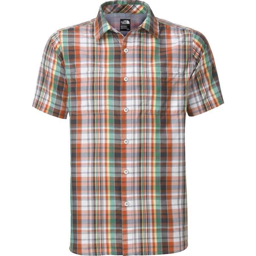 The north face solar plaid shirt short sleeve men 39 s for The north face short sleeve shirt