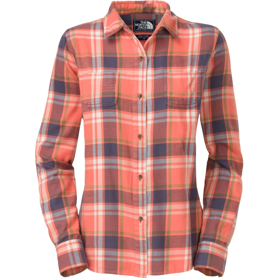 The north face fair acres flannel shirt long sleeve for Womans long sleeve shirts