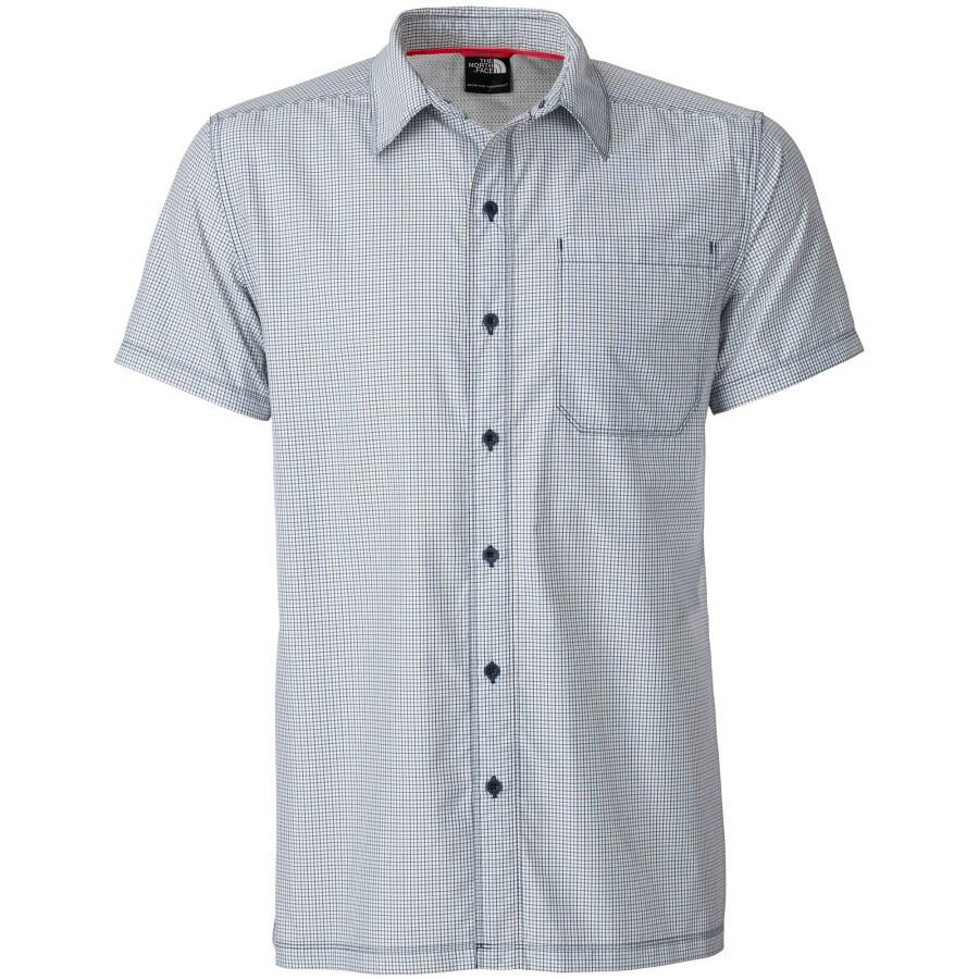 The north face dornan woven shirt short sleeve men 39 s for The north face short sleeve shirt