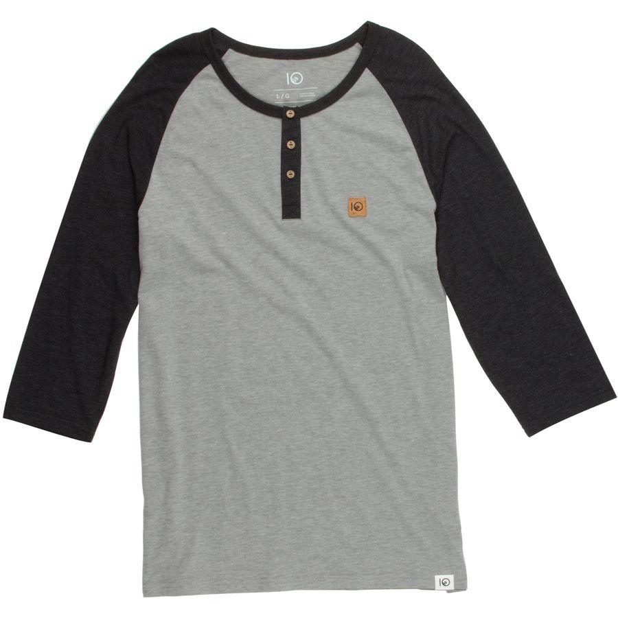 Tentree standard henley shirt 3 4 sleeve men 39 s for 3 4 henley shirt