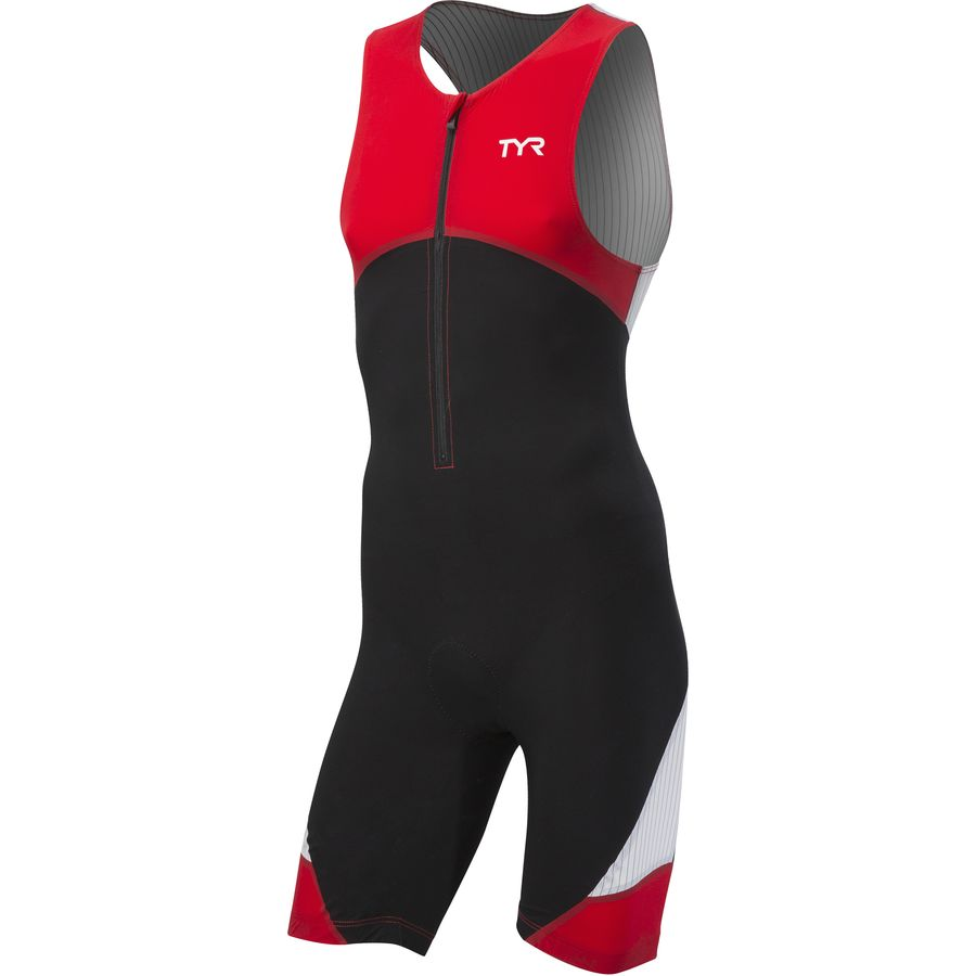 TYR Padded Carbon Front Zip Tri Suit - Mens