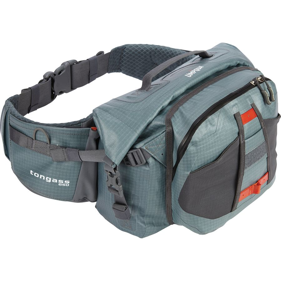 Umpqua tongass 650 waterproof waist pack 670cu in for Fly fishing packs