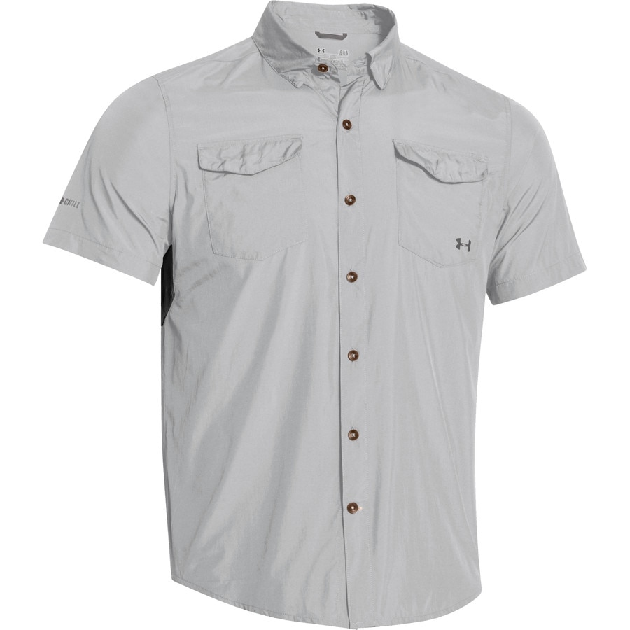 Under armour iso chill flats guide shirt short sleeve for Under armour fishing shirts clearance