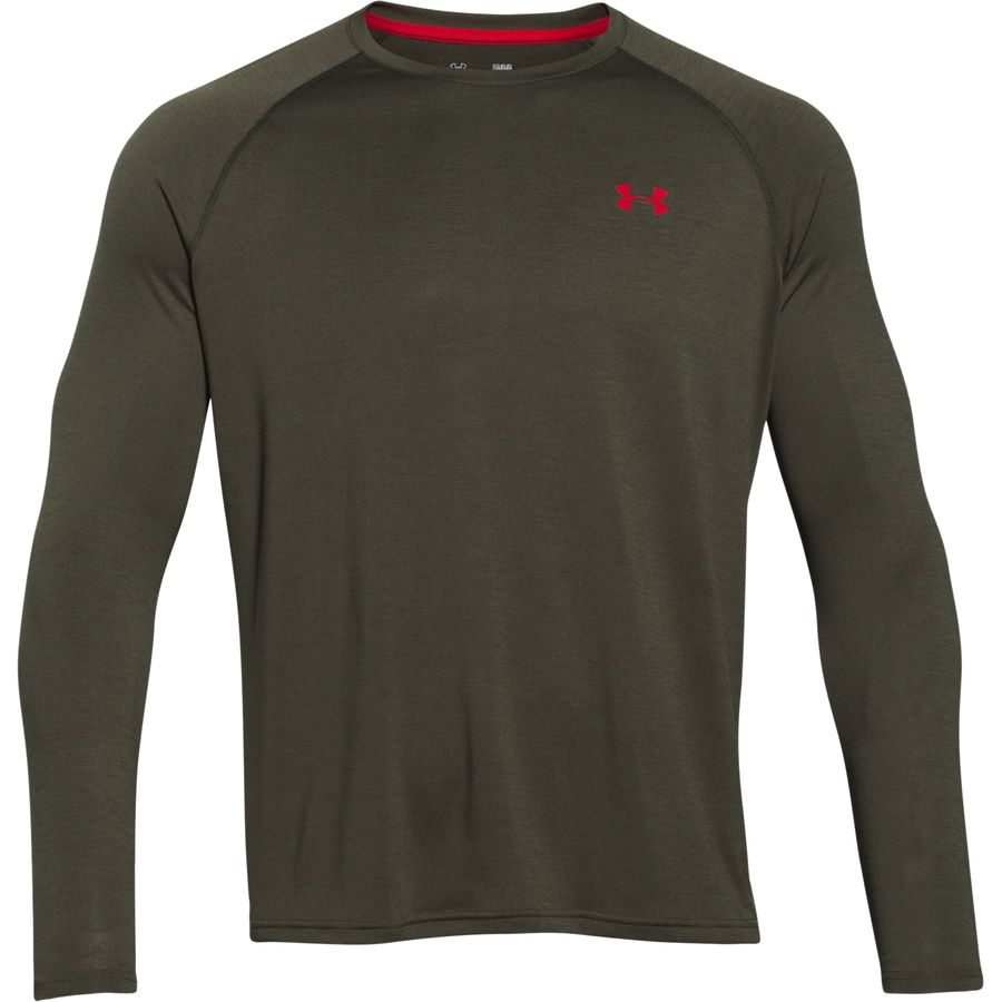 Under Armour Tech Patterned T Shirt Long Sleeve Men 39 S