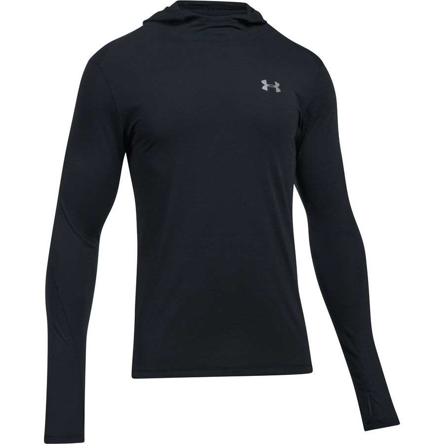 Under armour threadborne run mesh long sleeve hooded shirt for Boys long sleeve shirt with hood