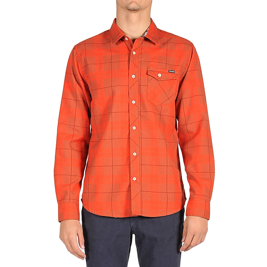 Volcom flanibus flannel shirt long sleeve men 39 s for Mens long sleeve flannel shirts