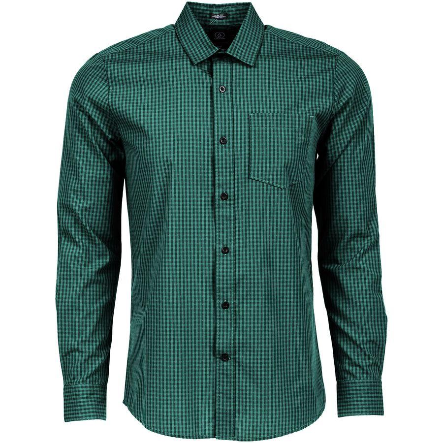 Volcom Everett Mini Check Shirt - Long-Sleeve - Mens