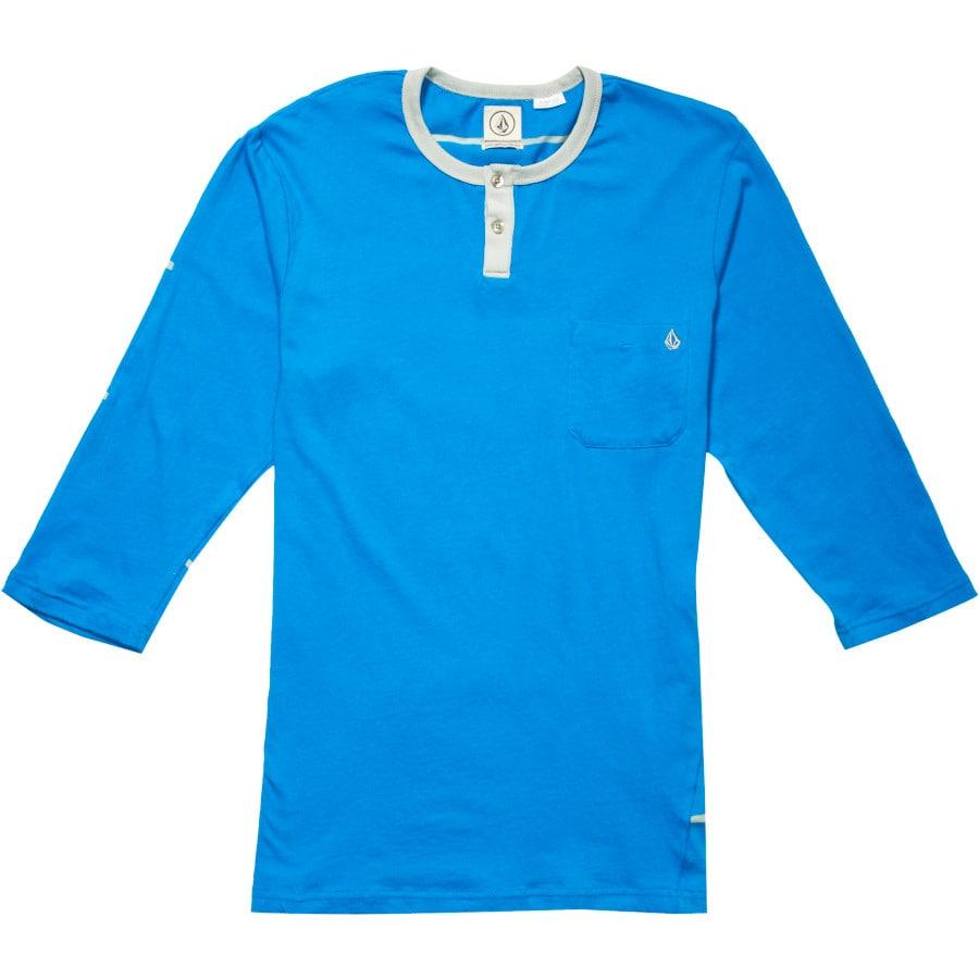 Volcom tangle henley shirt 3 4 sleeve men 39 s for 3 4 henley shirt