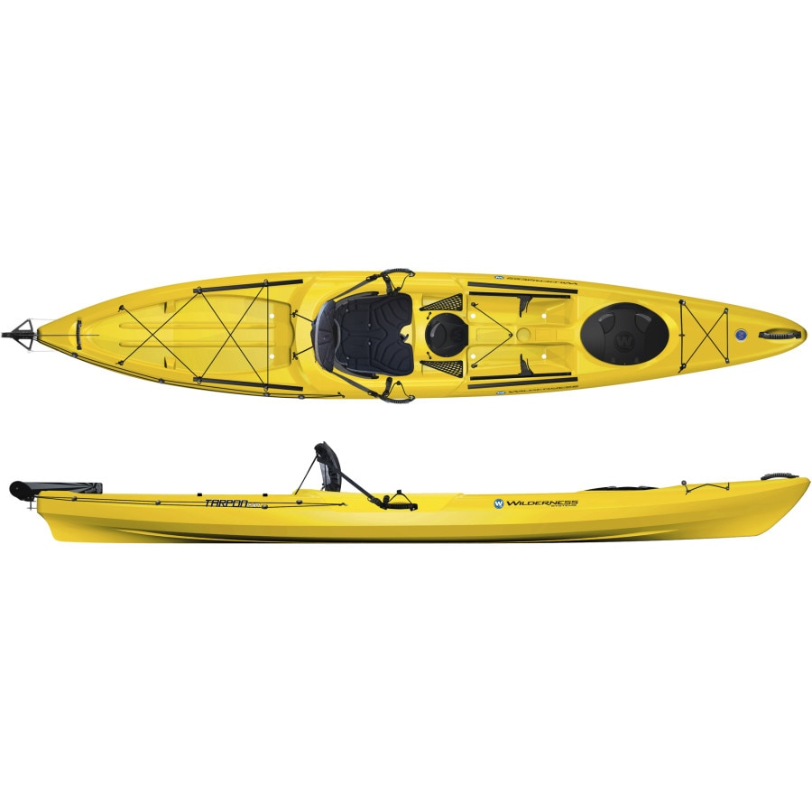 Wilderness systems tarpon 140 angler kayak w rudder for Wilderness systems fishing kayaks