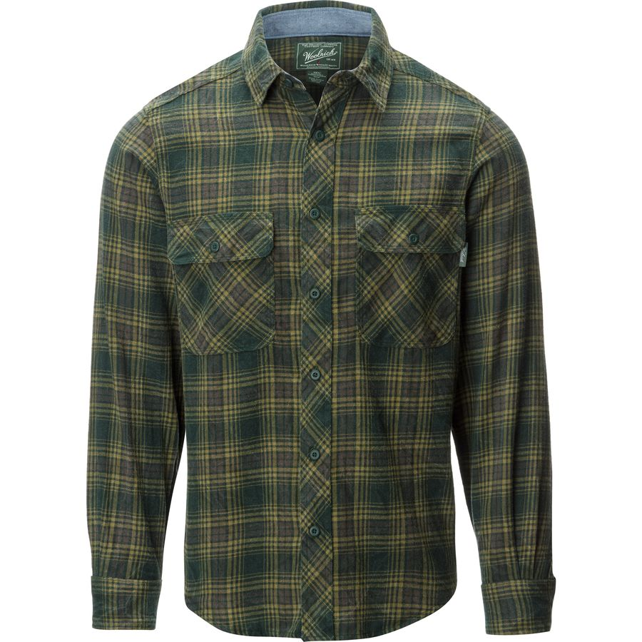 Woolrich miners wash modern flannel shirt long sleeve for How to wash flannel shirts