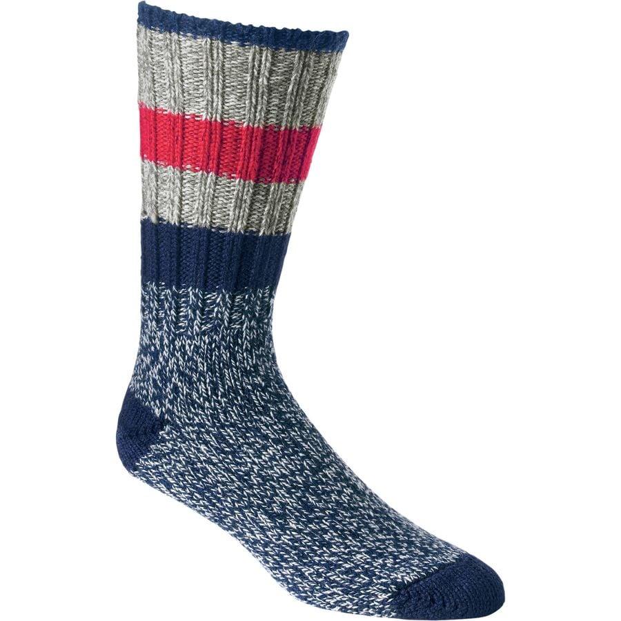 Woolrich Merino Rugby Stripe Ragg Sock