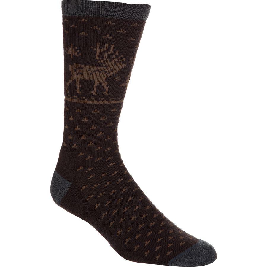 Woolrich Merino Deer Crew Sock