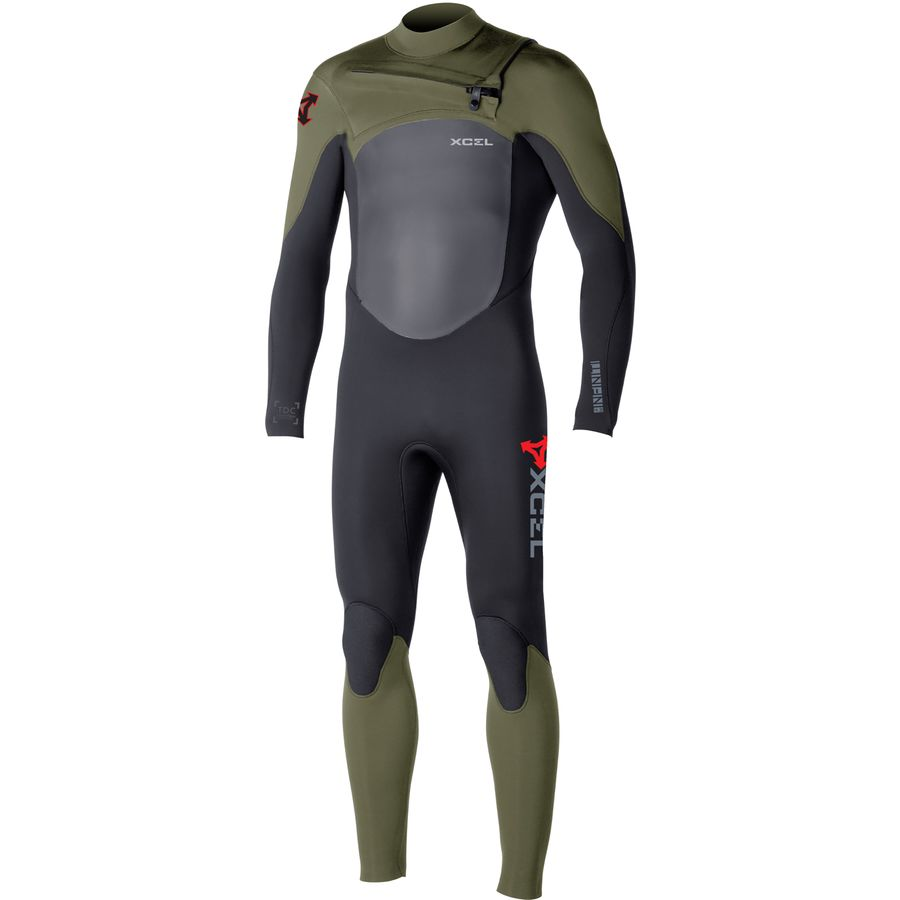 XCEL Hawaii 4/3 Infiniti X2 TDC Chest-Zip Full Wetsuit - Mens
