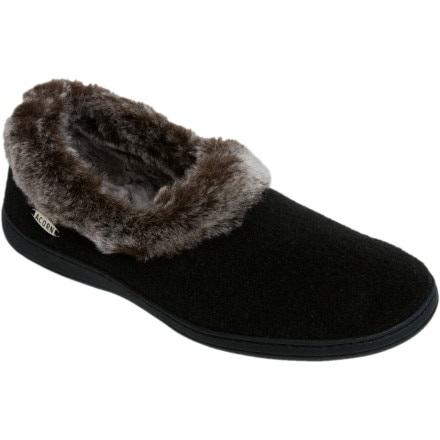 Acorn Chinchilla Collar Slipper Women's
