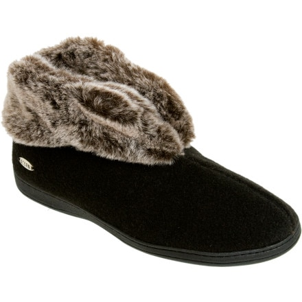 Acorn Chinchilla Bootie II Slipper Women's