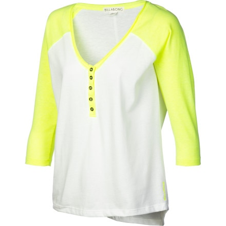 Billabong Relay Henley Shirt - 3/4-Sleeve - Women's