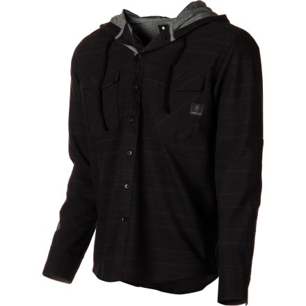 Billabong Spades Hooded Flannel Shirt - Long-Sleeve - Men's