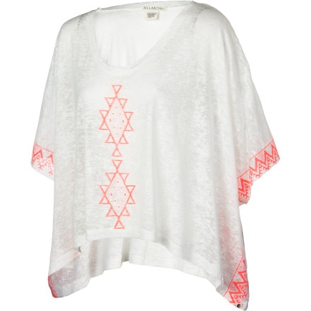 Billabong Border Line Poncho Shirt - Short-Sleeve - Women's