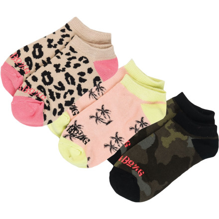 Billabong Slow Crawl Socks - 3-Pack - Women's