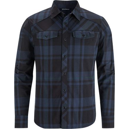 Black diamond stretch technician flannel shirt long for 9 oz flannel shirt