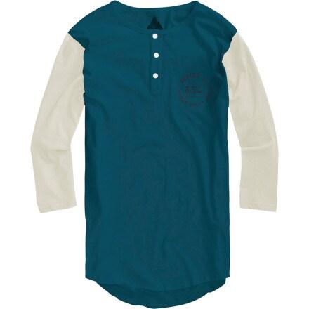 Burton bar league henley baseball shirt 3 4 sleeve for 3 4 henley shirt