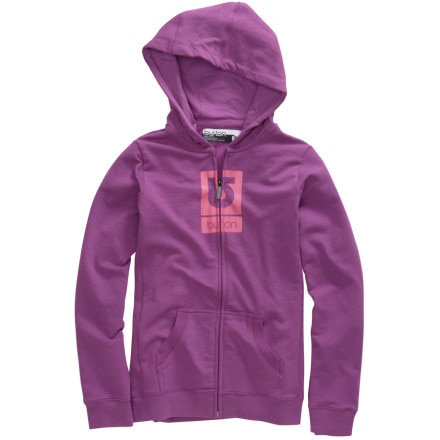 photo: Burton Girls' Logo Fill Full-Zip Hoodie