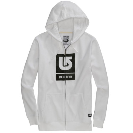 photo: Burton Logo Fill Full-Zip Hoodie fleece jacket