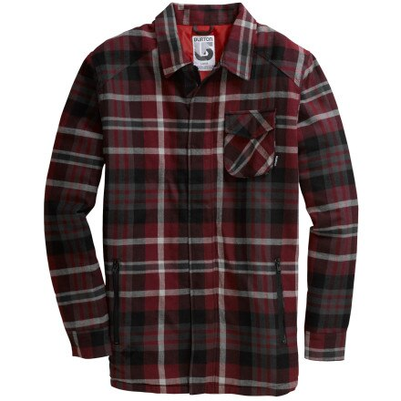 Men 39 s big and tall quilted flannel shirt for Big and tall lined flannel shirts