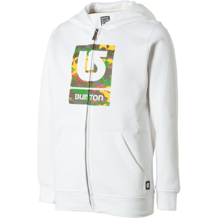 photo: Burton Boys' Logo Fill Full-Zip Hoodie