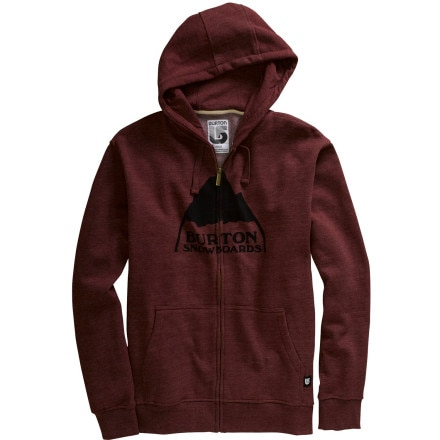 photo: Burton Mountain Logo Full-Zip Hoodie fleece jacket