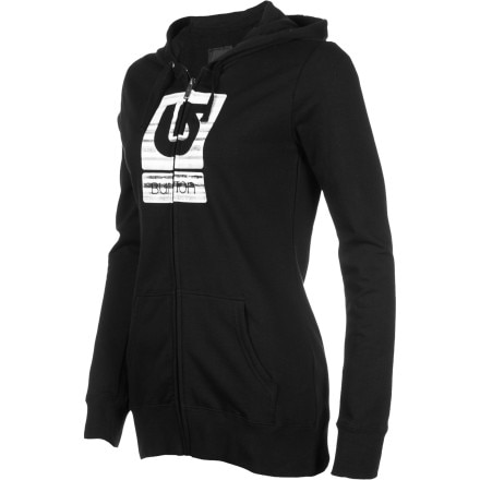Burton Her Logo Palette Stripes Basic Full-Zip Hoodie - Women's