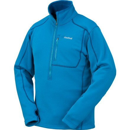 photo: Cloudveil Men's Run Don't Walk 1/2 Zip fleece top