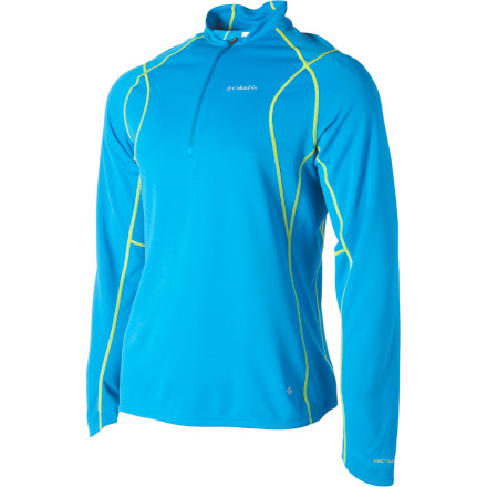 photo: Columbia Bug Shield Sporty 1/2 Zip long sleeve performance top