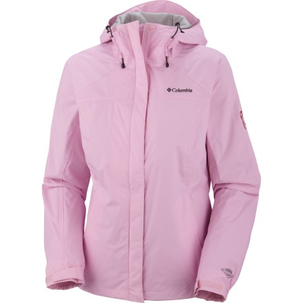 Columbia Tested Tough In Pink Rain Jacket - Women's