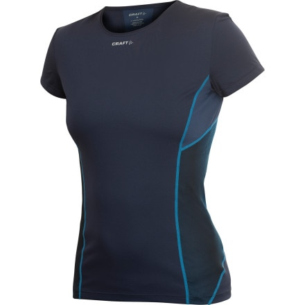photo: Craft Women's PC Tee with Mesh short sleeve performance top