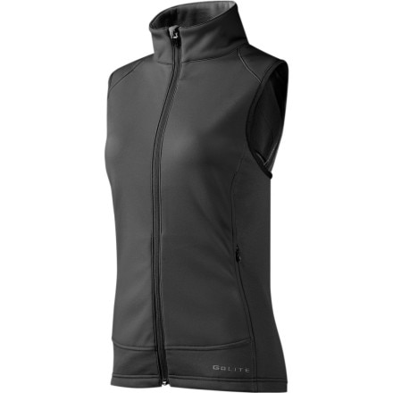 photo: GoLite Women's Black Mountain Thermal Wind Vest wind shell vest