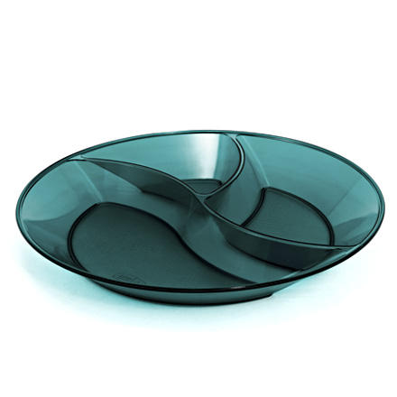photo: GSI Outdoors Lexan Resin Round Divided Plate plate/bowl