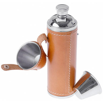 photo: GSI Glacier Stainless Leather Wrapped Flask