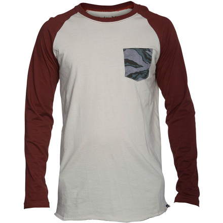 Hurley Flammo Pocket Raglan T-Shirt - Long-Sleeve - Men's