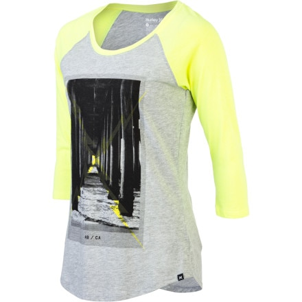 Hurley Below Perfect Raglan T-Shirt - Long-Sleeve - Women's