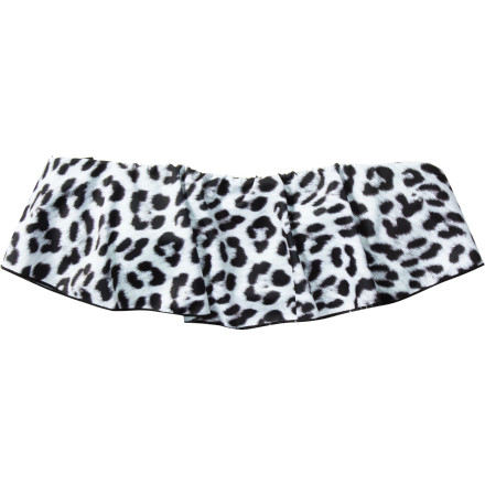 Hurley Leopard Removable Soft Cup Bandeau Bikini Top - Women's