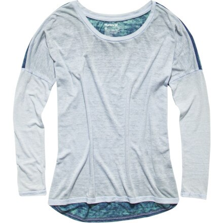 Hurley Solid Burnout Biker T-Shirt - Long-Sleeve - Women's