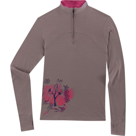 photo: Ibex Echo Sport Long Sleeve Zip T long sleeve performance top