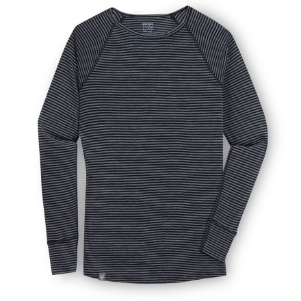 Ibex Woolies 150 Stripe Crew - Men's