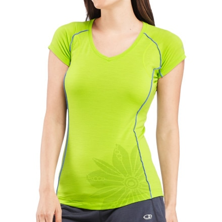 Icebreaker Flash V-Neck Shirt - Short-Sleeve - Women's