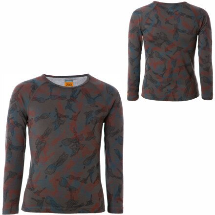 photo: Icebreaker Boys' L/S Crewe Print base layer top