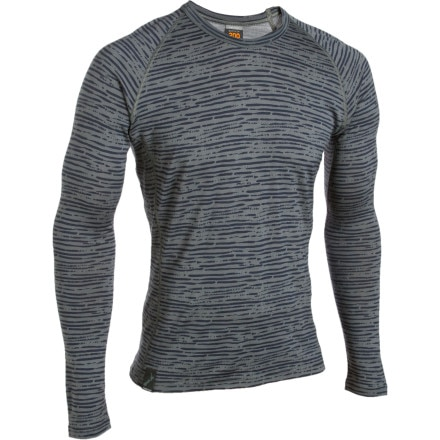 photo: Icebreaker Men's Oasis Crewe Print Primal Stripe base layer top