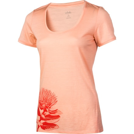 Icebreaker Tech Scoop Pohutukawa Shirt - Short-Sleeve - Women's