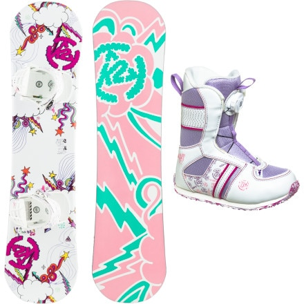 K2 Snowboards Lil Kandi Grom Package XS - Girls'